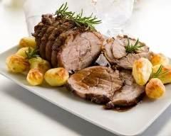 Recette rôti de veau simple aux pommes de terre