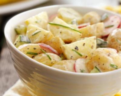 Recette salade de pommes de terre aux radis et concombres