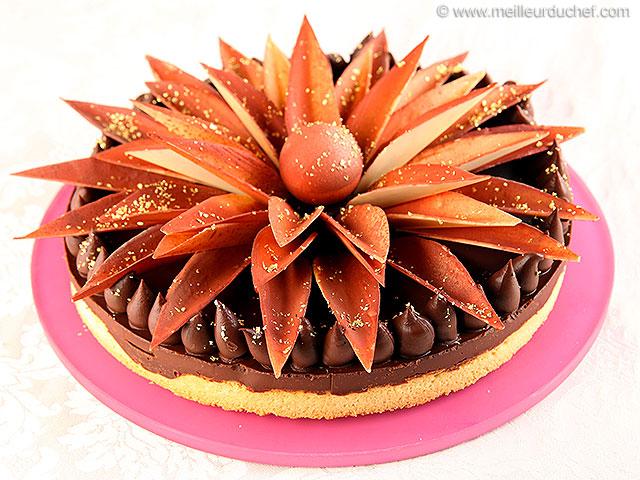 Tarte au chocolat comme un bouquet  recette de cuisine avec ...
