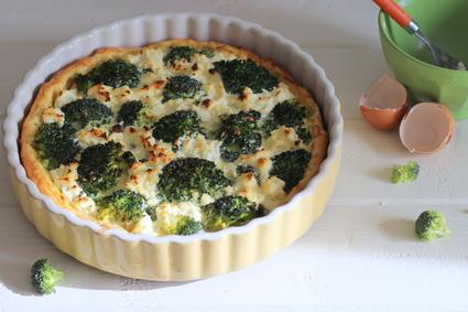Recette de tarte au brocoli, thon et ricotta