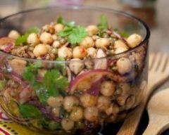 Recette salade de lentilles et pois chiches à la mexicaine
