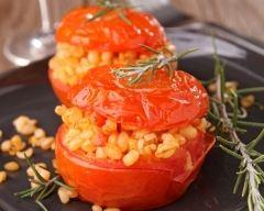 Recette tomates farcies au blé et aux herbes