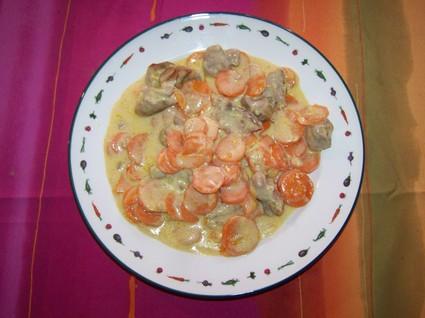 Recette de sauté de dinde aux carottes