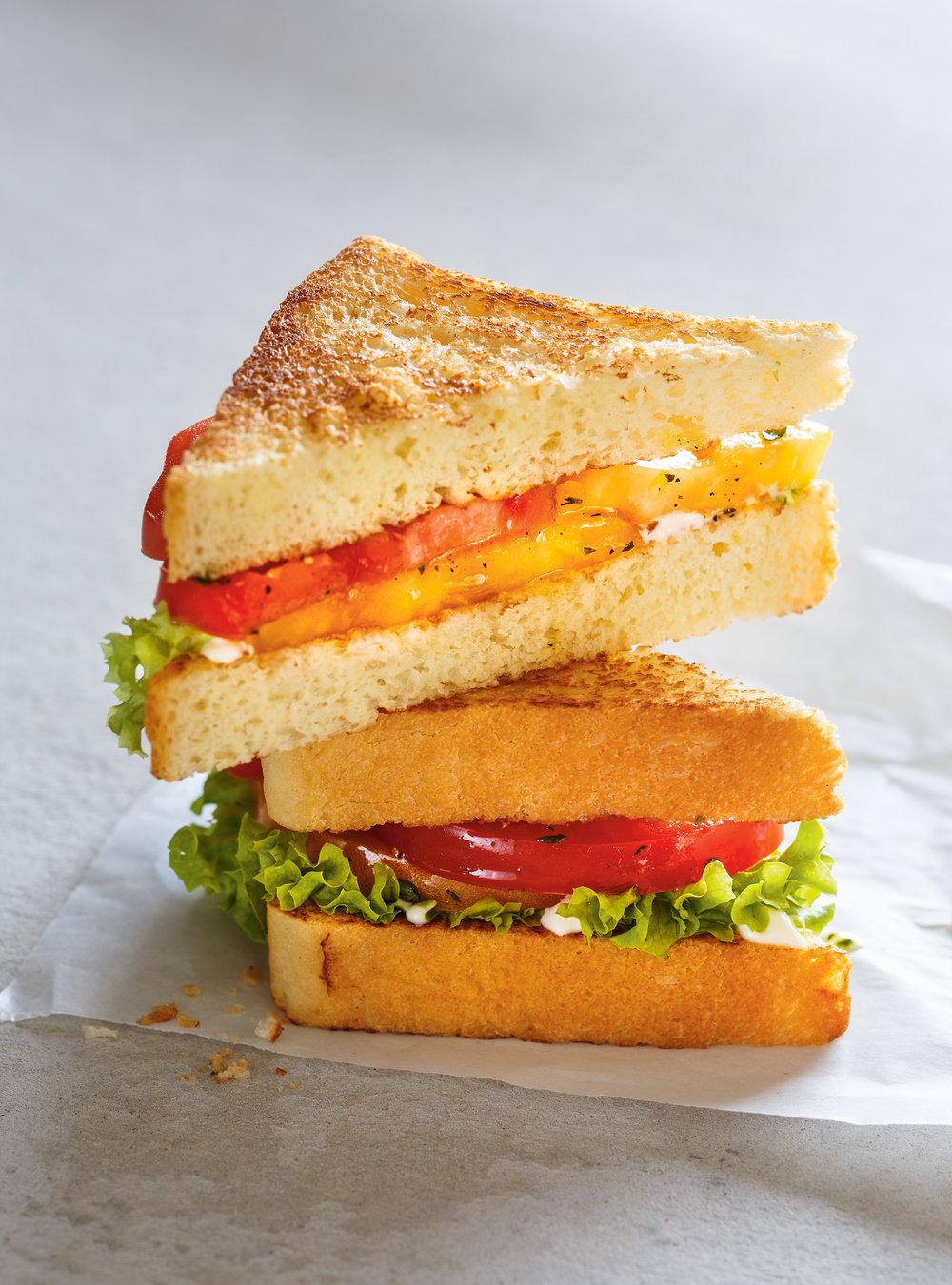 Sandwich aux tomates marinées   ricardo