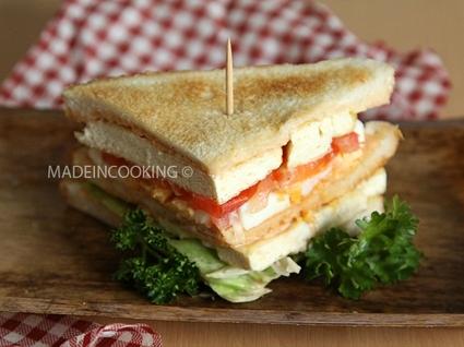 Recette de club sandwich végétarien