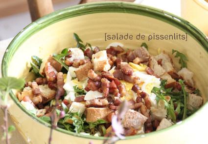 Recette de salade de pissenlits