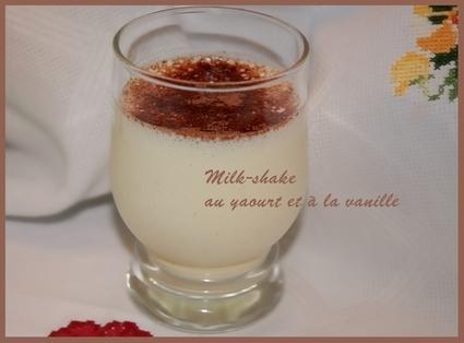 Recette de milk-shake au yaourt et à la vanille