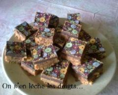 Recette carrés printaniers au caramel et chocolat