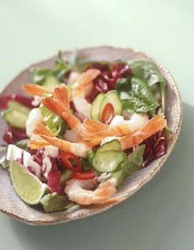 Salade de crevettes à la thaïlandaise pour 4 personnes