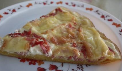 Pizza crémeuse au maroilles
