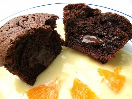 Recette de petits fondants chocolat mandarine