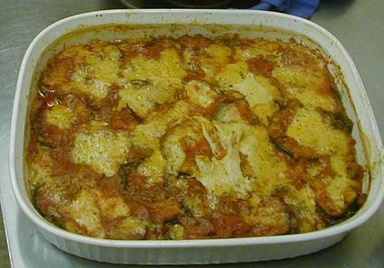 Recette de gratin d'aubergines, tomates et viande de porc