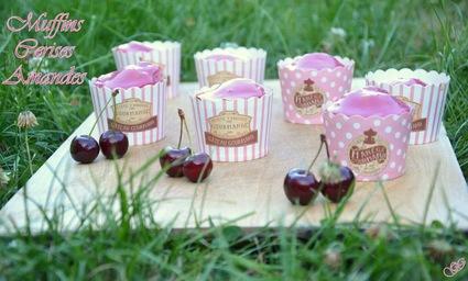 Recette de muffins cerises-amandes