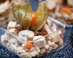 Recette foie gras au crumble de châtaignes, confit de figues
