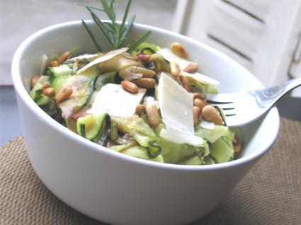 Recette de salade de courgettes aux pignons