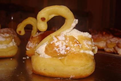 Recette de cygnes en pâte à choux