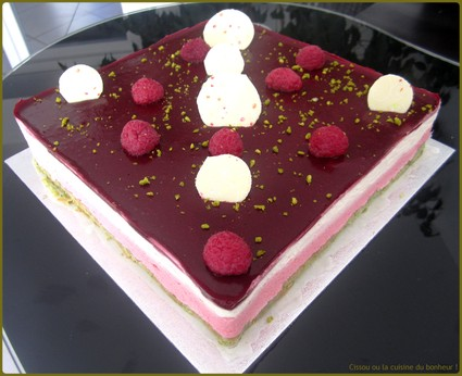 Recette de bavarois framboise chocolat blanc pistache