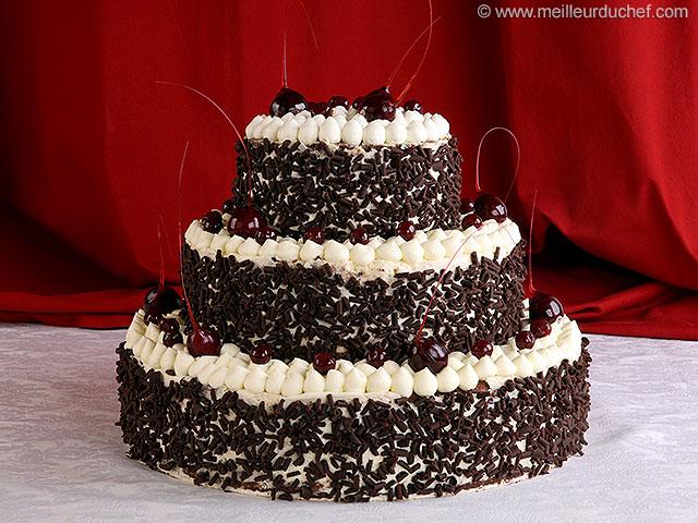 Forêt noire façon wedding cake  recette de cuisine avec photos ...