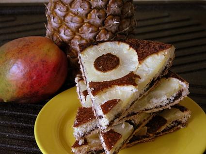 Recette de tatin d'ananas coco et chocolat