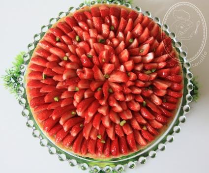 Recette de tarte aux fraises à la crème d'amande