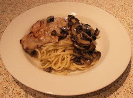 Recette escalopes de veau, spaghettis au gorgonzola et aux ...