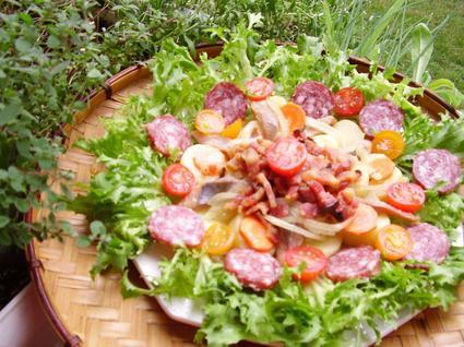 Recette de salade lyonnaise