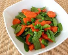 Recette carottes et pois mange-tout au beurre