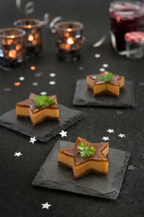 Recette de cheesecakes au foie gras et à la confiture de figues