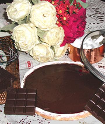 Recette de tarte au chocolat et miel