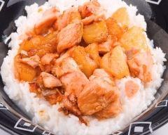 Recette blancs de poulet à l'ananas et au lait de coco